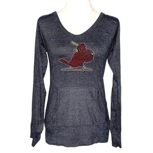 St. Louis Cardinals Long Sleeve Lightweight Hoodie Size XL